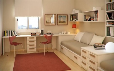 Home design small kids room and study room with furniture for Small study room ideas